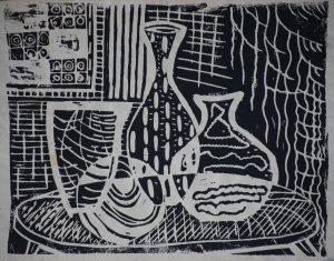 Linolschnitt - Stilleben